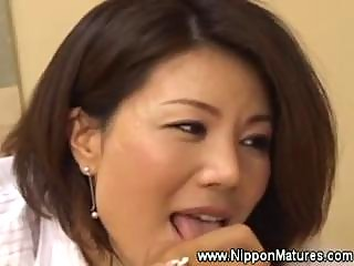 Asian japanese milf handjob