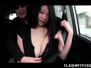 Japanese temptress flashing..