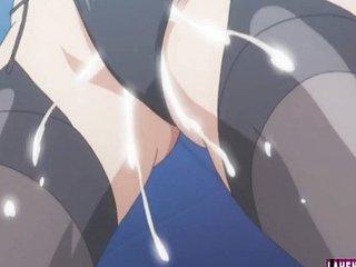 Hentai babe sucks with an..