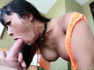 Fetish slut sucking on hard..