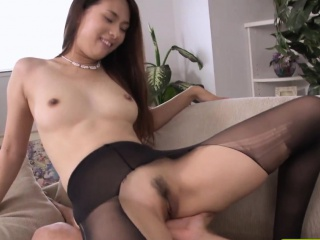 Japanese stockings babe rammed