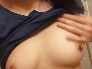 Korean tolerant shows boobs