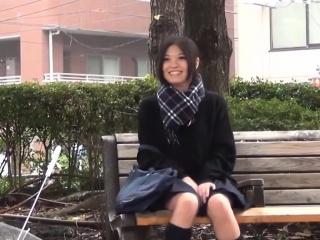 Japanese teen toying..