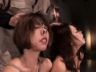 Two kinky Japanese girls in..
