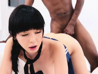 Asian cunt gets filled with..