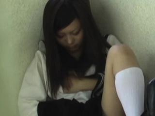 Asian pupil rubs cunt