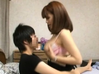 Japanese milf all over large..