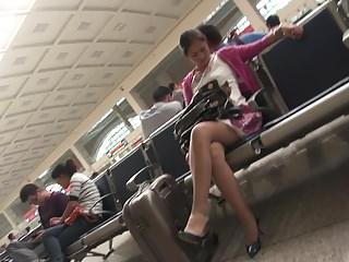 hot chinese milf's  leg..