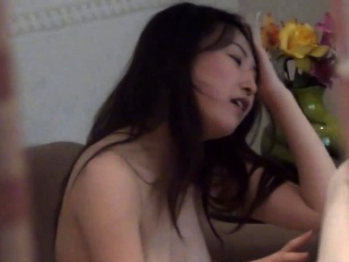 Fingered asian rides weasel..