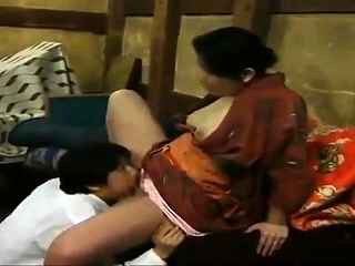Hairy japanese milf takes on..
