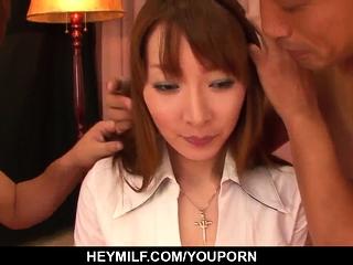 Kou Minefuji deals the cock..