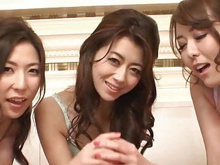 Three Japanese women working..