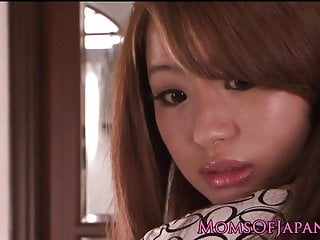 Japanese MILF licks with the..