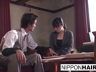 Japanese office slut gets..