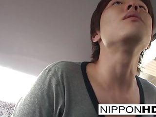 Hot Japanese babe fucks him..