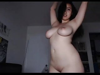 asian showing off her body..
