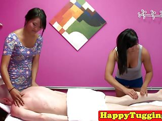 Rub-down asians tow and..
