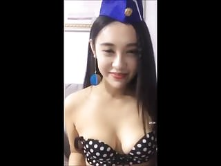 Chinese girl flashing her..