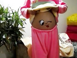 Chinese pregnant girl bare..