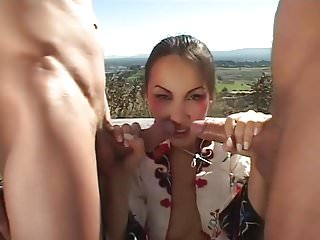 Threesome Outdoor with a..