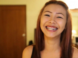 Asian pithy titted teen with..