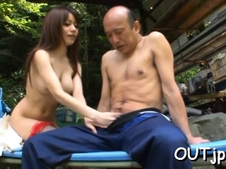 Enlivened busty cutie Miki..