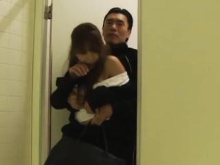Mischievous Yuki Kami blows..