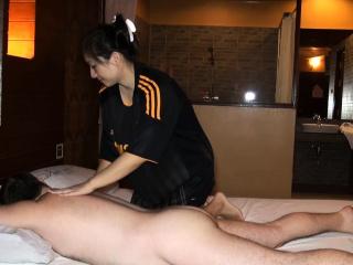 Big butt Asian amateur oily..