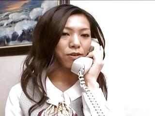 Hot secretary Kaoru Hayami..