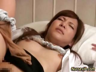 Japanese asian nurse blowjob..