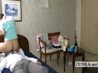 Bottomless Japan nurse eaten..
