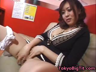 Nana Aoyama Sucking Cock in..