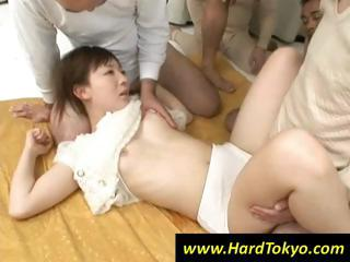 Japanese girl is handy the..