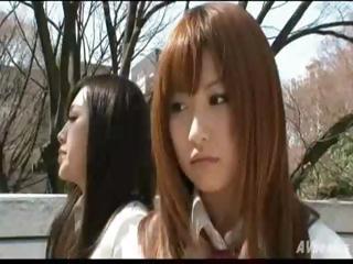 Twosome hottie Japanese..