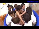 Many Schoolgirls Rubbing..