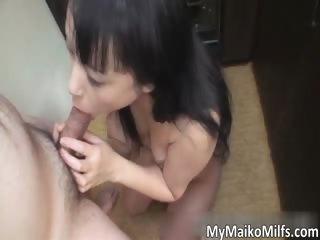 Low-spirited asian dour girl..