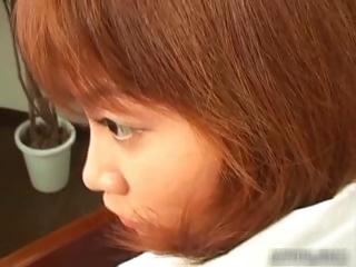 Cute readhead japanese teen..