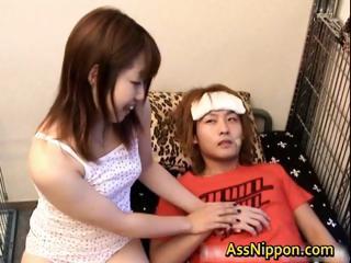 Cute Asian model enjoys lots..