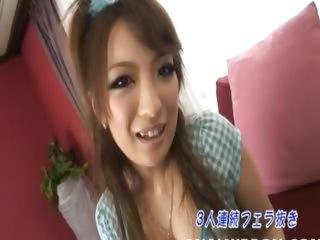Asian schoolgirl sucking..