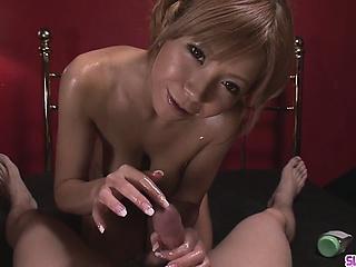 Oiled Up Teen Sumire Matsu..