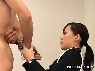Nasty asian police woman..